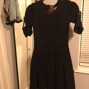 Burberry Brit black dress knit w/ wool skirt 6